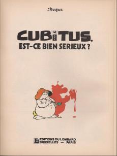 Extrait de Cubitus -15b- Est-ce bien sérieux ?