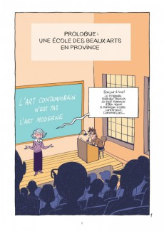 Extrait de La petite Bédéthèque des Savoirs -9- L'Artiste contemporain - Sociologie de l'art d'aujourd'hui