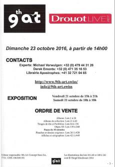 Extrait de (Catalogues) Ventes aux enchères - Divers - 9th Art gallery - Dimanche 23 octcbre 2016 - 2000 Neuchâtel - Suisse
