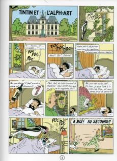 Extrait de Tintin - Pastiches, parodies & pirates -19g- Tintin et l'Alph-Art