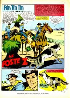 Extrait de Rin Tin Tin & Rusty (2e série) -14- Le poste z