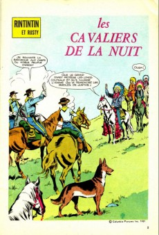 Extrait de Rin Tin Tin & Rusty (2e série) -141- Les cavaliers de la nuit
