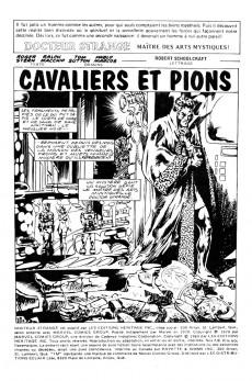 Extrait de Docteur Strange (Éditions Héritage) -78- Cavaliers et pions