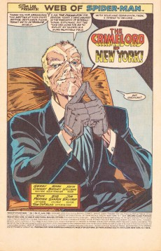 Extrait de Web of Spider-Man (1985) -51- The crimelord of New York!