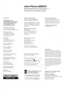 Extrait de (Catalogues) Ventes aux enchères - Christie's - Christie's - Gibrat - Bande Dessinée et Illustration - 19 novembre 2016 - Paris
