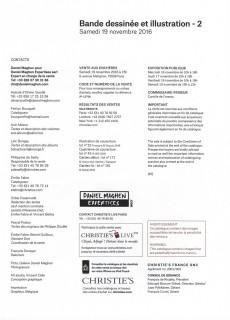 Extrait de (Catalogues) Ventes aux enchères - Christie's - Christie's - Bande Dessinée et Illustration - 19 novembre 2016 - Paris