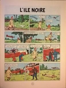 Extrait de Tintin (Historique) -7B40- L'île noire