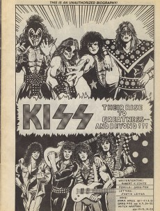 Extrait de Rock 'N' Roll Comics Magazine (1990) -1- Kiss: Their Rise To Greatness-- And Beyond!!!