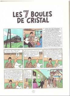 Extrait de Tintin (Historique) -13B40- Les 7 boules de cristal