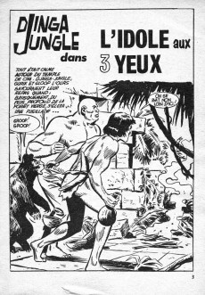 Extrait de Télé série bleue (Les hommes volants, Destination Danger, etc.) -35- Djingla Jungle : L'idole aux trois yeux