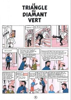 Extrait de Tintin - Pastiches, parodies & pirates -a17- Le triangle du diamant vert