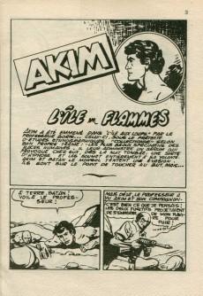 Extrait de Akim (2e série) -77- L'île en flammes