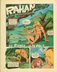 Extrait de Rahan (1e Série - Vaillant) -6- Le rivage interdit/La falaise du sacrifice