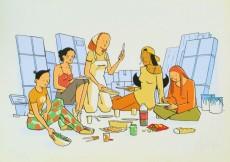 Extrait de Les filles -2TT- Papier peint
