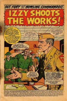 Extrait de Sgt. Fury and his Howling Commandos (Marvel - 1963) -54- Izzy shoots the works !