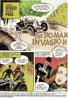 Extrait de John Steed Emma Peel (The Avengers - Gold Key - 1968) -1- The Lid's Off a Spy Game a La Mod!