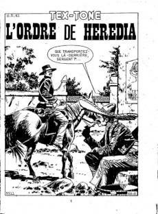 Extrait de Tex-Tone -501- L'ordre de hérédia