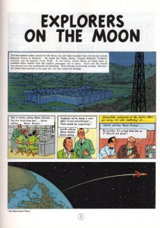 Extrait de Tintin (The Adventures of) -17- Explorers on the Moon