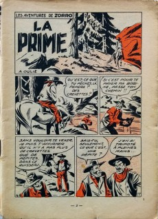 Extrait de Zorro (2e Série - SFP puis SFPI) -26- Les aventures de Zorro, La prime