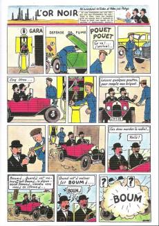 Extrait de Tintin - Pastiches, parodies & pirates - Tintin reporter au pays de l'or noir