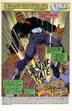 Extrait de Cage Vol. 1 (Marvel - 1992) -2- Creatine Hate