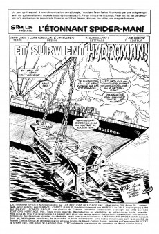 Extrait de L'Étonnant Spider-Man (Éditions Héritage) -115116- Spidey goûte à la douche d'Hydro-man