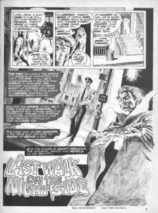 Extrait de Dracula Lives! (Marvel Comics - 1973) -8- Last walk on the night side