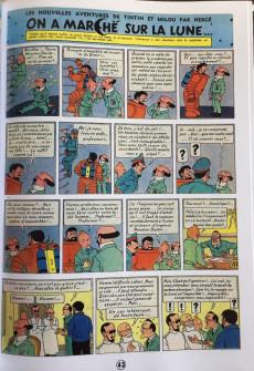 Extrait de Tintin - Pastiches, parodies & pirates - On a marché sur la Lune