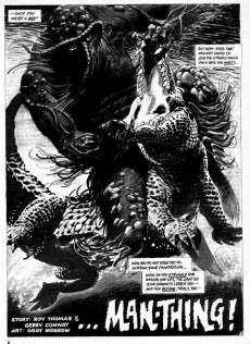 Extrait de Monsters Unleashed (Marvel comics - 1973) -3- The Man-Thing walks among us