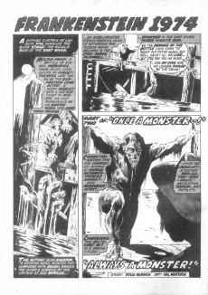 Extrait de Monsters Unleashed (Marvel comics - 1973) -6- The Frankenstein monster runs amok-today