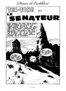 Extrait de Tex-Tone -108- Tex-Tone et le sénateur