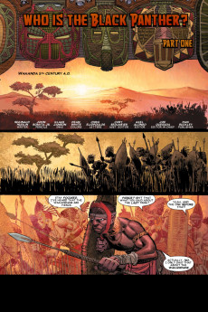 Extrait de Black Panther Vol.4 (Marvel - 2005) -1- Who is the Black Panther? Part one