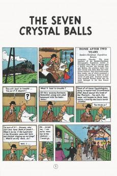 Extrait de Tintin (The Adventures of) -13b84- The seven Crystal Balls