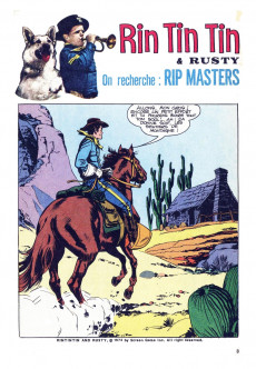 Extrait de Rin Tin Tin & Rusty (2e série) -5152- On recherche : Rip Masters