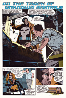 Extrait de Punisher War Journal Vol.1 (Marvel comics - 1988) -6- On the Track of Unknown Animals