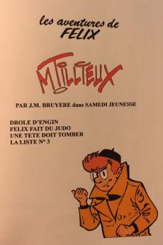 Extrait de Félix (Tillieux, Éditions Michel Deligne puis Dupuis, en couleurs) -10PIR- Drôle d'engin