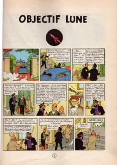 Extrait de Tintin (Historique) -16B36bis- Objectif lune