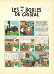 Extrait de Tintin (Historique) -13B20bis- Les 7 boules de cristal