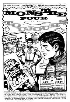 Extrait de Fantastic Four (Éditions Héritage) -2- Monstre pour toujours