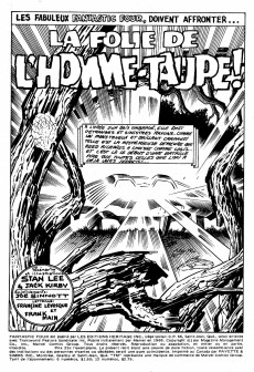 Extrait de Fantastic Four (Éditions Héritage) -7- La folie de l'homme-taupe!