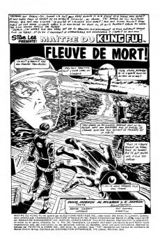 Extrait de Les mains de Shang-Chi, maître du Kung-Fu (Éditions Héritage) -9- Fleuve de mort !