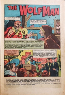 Extrait de Movie Classics (Dell - 1962) -922- The Wolf Man