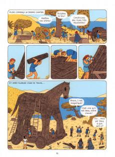 Extrait de La mythologie en BD -9- La guerre de Troie et l'Iliade