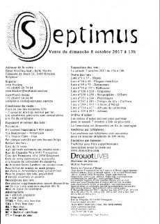 Extrait de (Catalogues) Ventes aux enchères - Divers - Septimus - vente du 8 octobre 2017 - hôtel nivelles-sud