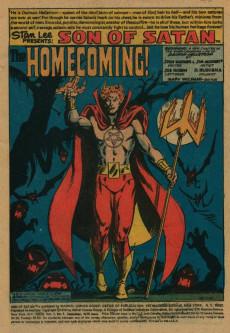 Extrait de Son of Satan (The) (Marvel comics - 1975) -1- Homecoming!