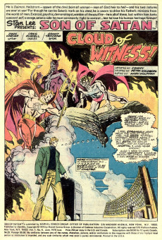 Extrait de Son of Satan (The) (Marvel comics - 1975) -4- Cloud of witness