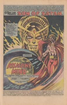 Extrait de Son of Satan (The) (Marvel comics - 1975) -5- Assassin's mind