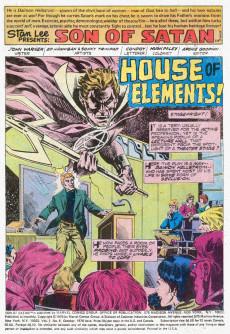 Extrait de Son of Satan (The) (Marvel comics - 1975) -6- House of elements