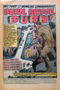 Extrait de Sgt. Fury and his Howling Commandos (Marvel - 1963) -71- Burn, Bridge, Burn !