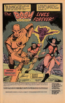 Extrait de Showcase (1956) -94- The Doom Patrol lives forever